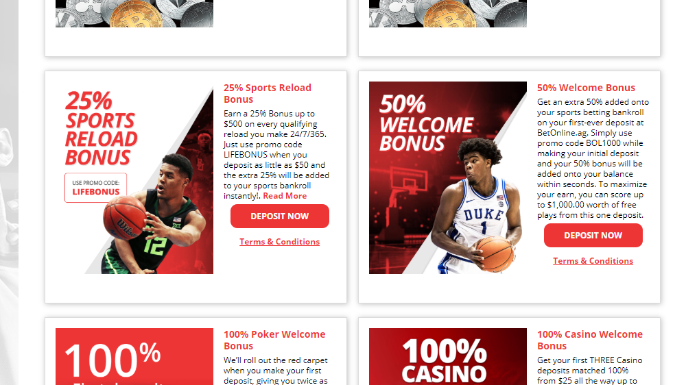 Bet Online Sportsbook Review, welcome bonus, deposit bonus,