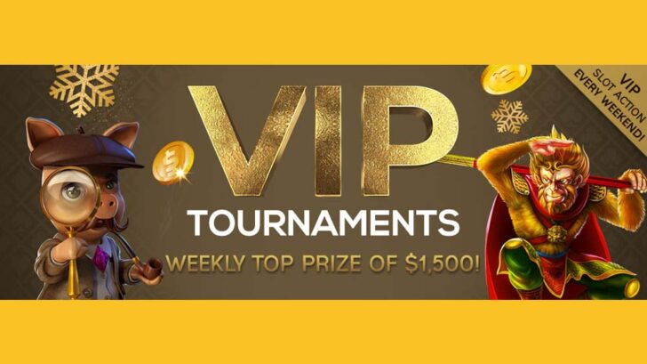 December VIP Tournaments at Vegas Crest Casino