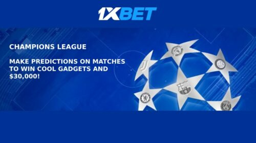 Champions League Predictions Jackpot at 1xBET Sportsbook